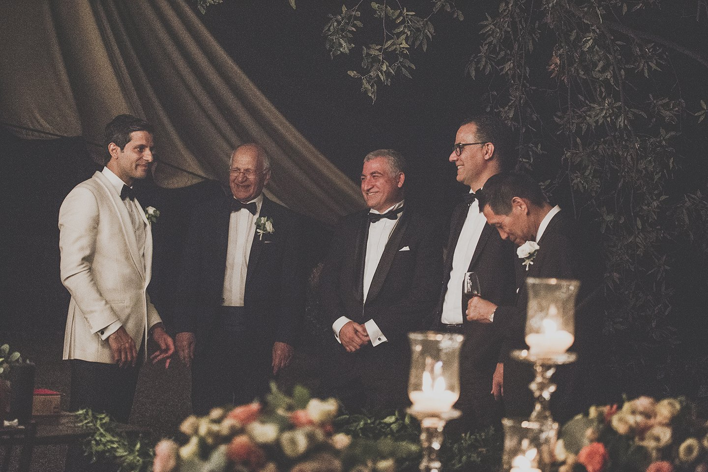 groom-father-best-men-wedding-dinner-Vignamaggio