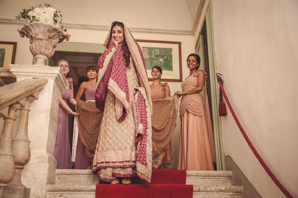 bride-bridesmaids-Sana-Safinaz-traditional-pakistani-dress-bride-villa-catignano-tuscany