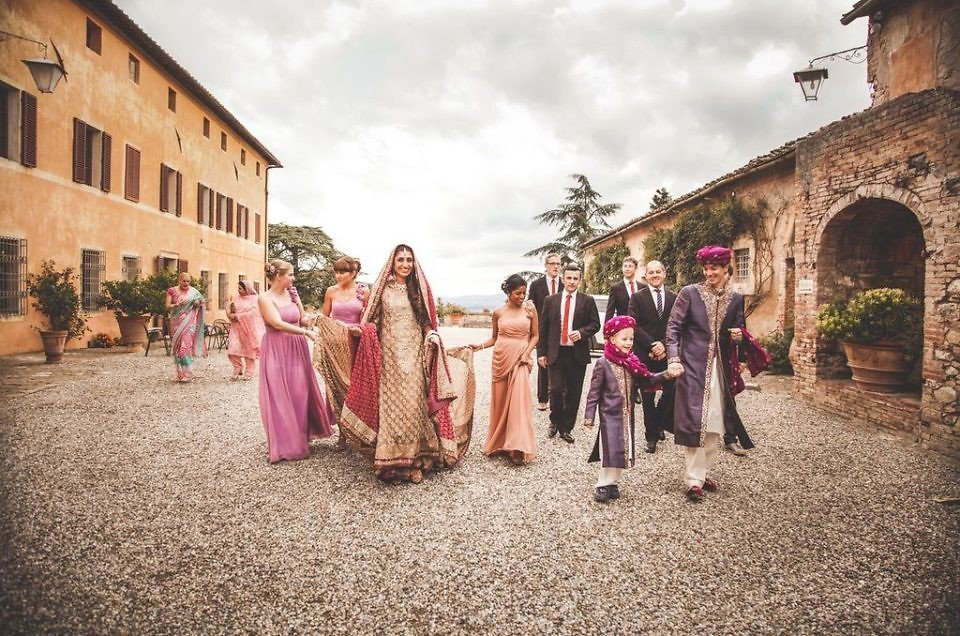 Pakistani wedding at Villa Catignano in Tuscany