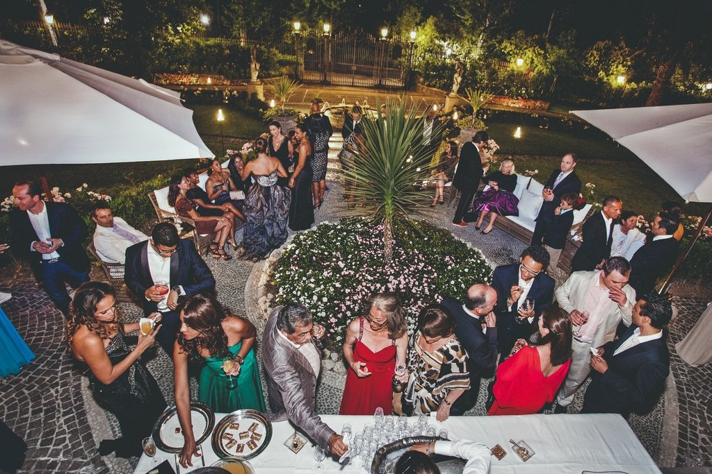 outdoor- wedding - reception - Villa - Cora - Florence
