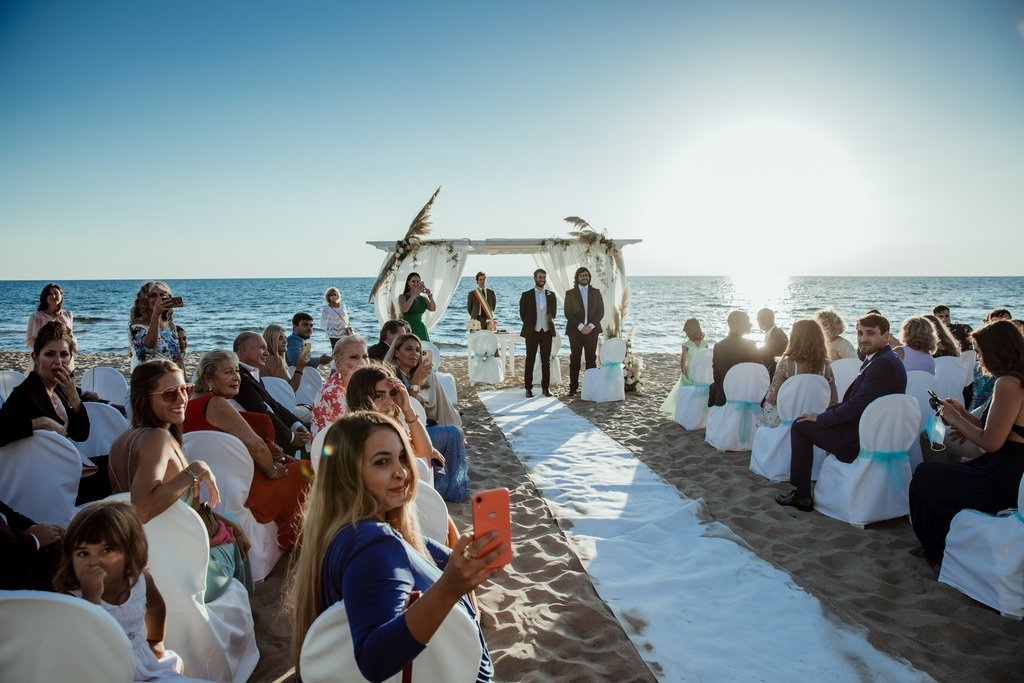sunset-beach-wedding-civil-ceremony-Sabaudia-