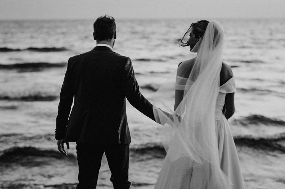 Beach wedding in Sabaudia, Italy.