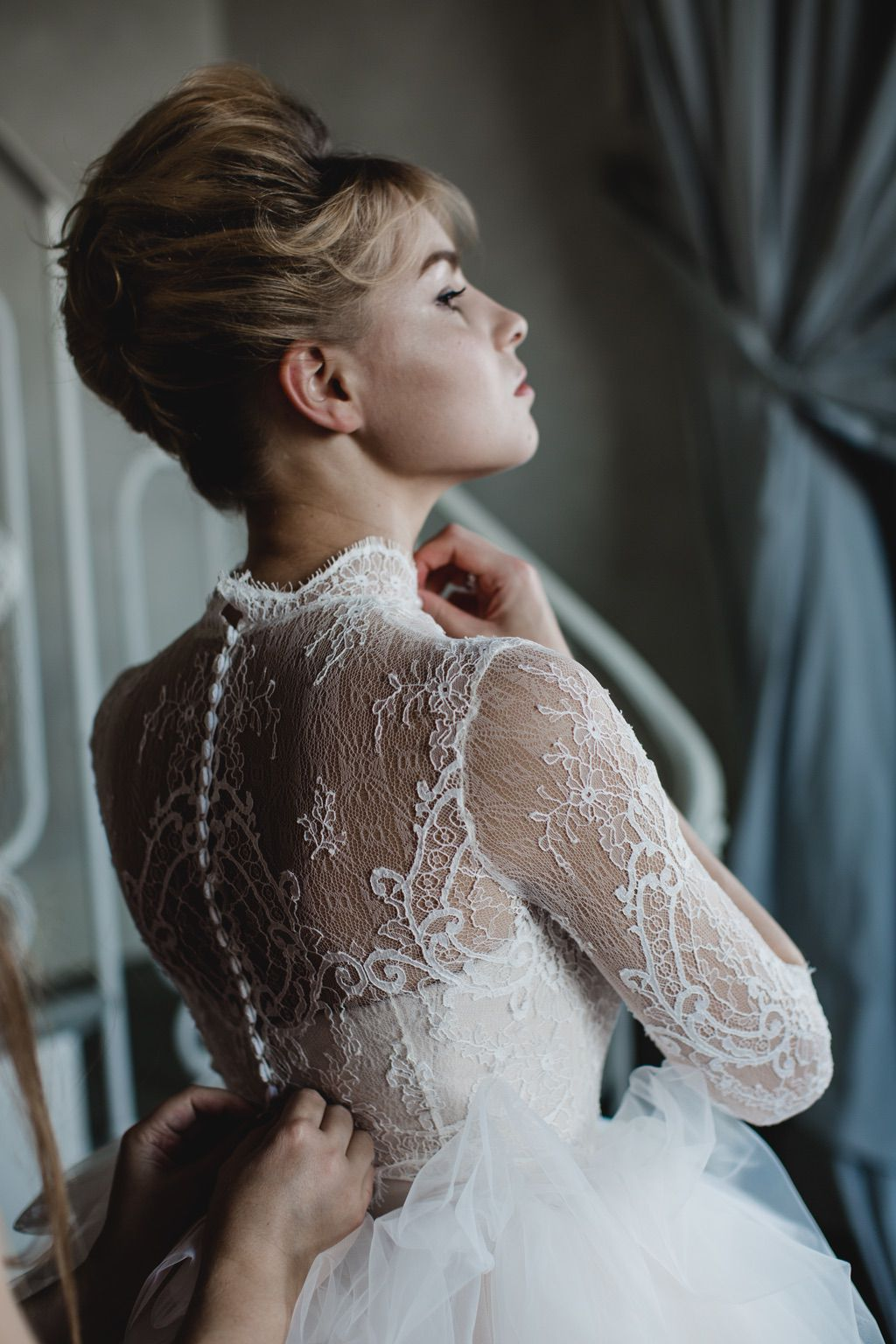 Pink and white lace luxury wedding bridal wedding dress in Firenze
