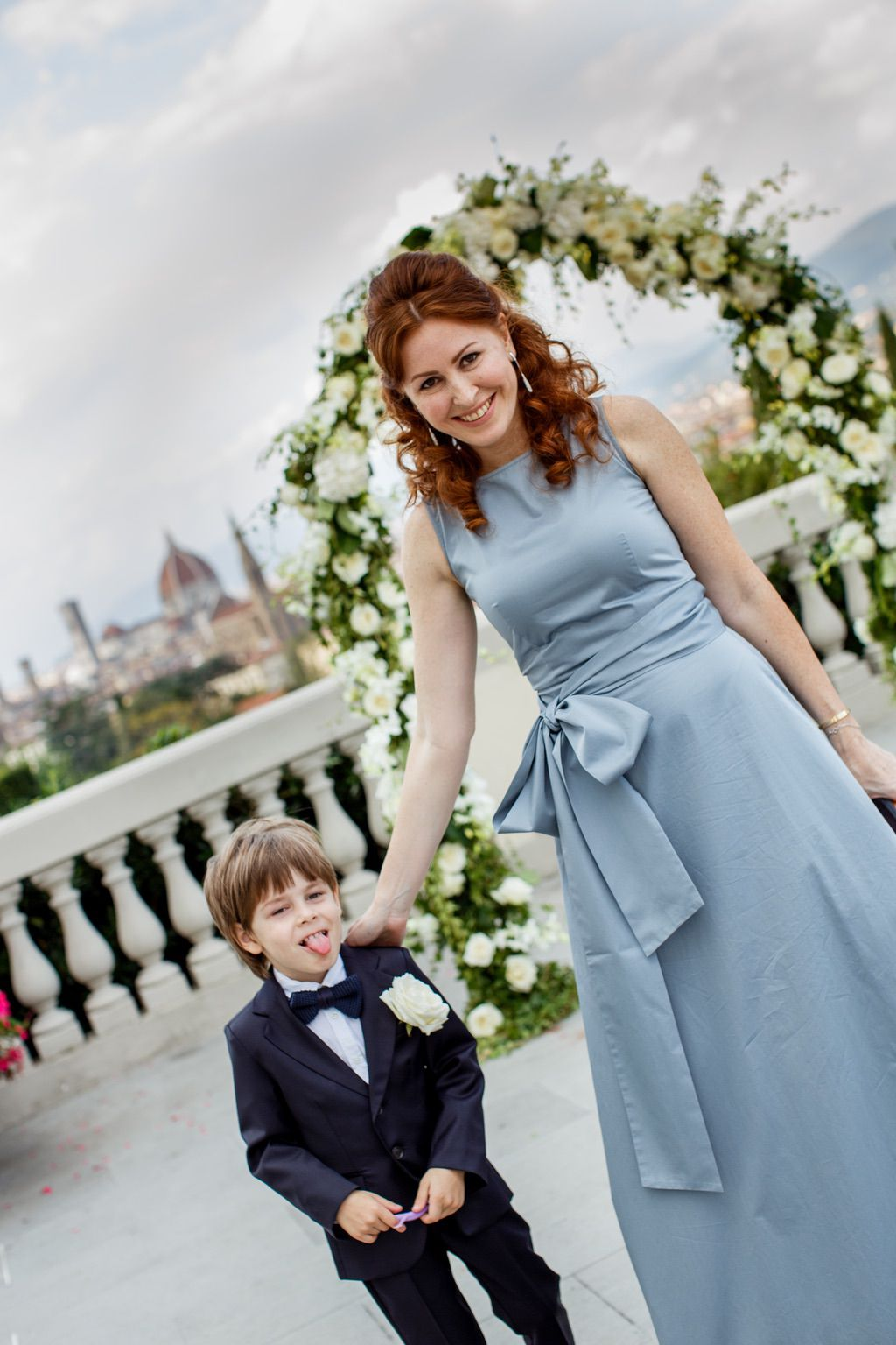 guests luxury wedding blessing ceremony in Italy