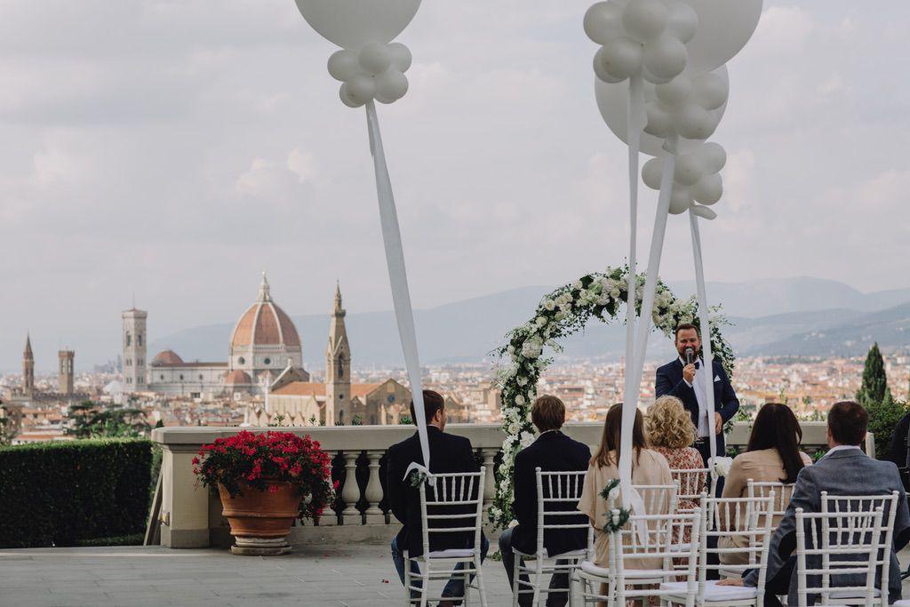 wedding day at villa vedetta blessing wedding ceremony