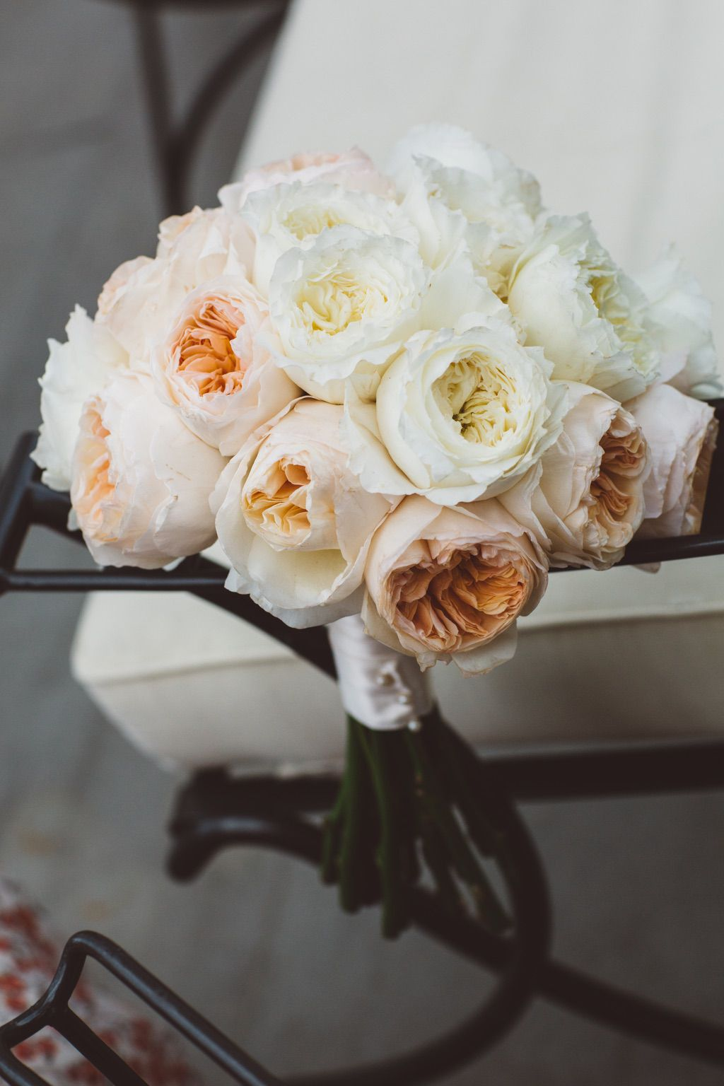 pink and orange white bouquet of peonies Firenze