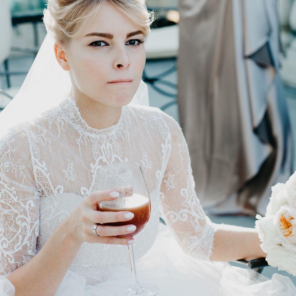 bride portrait not posed destination wedding in Italy