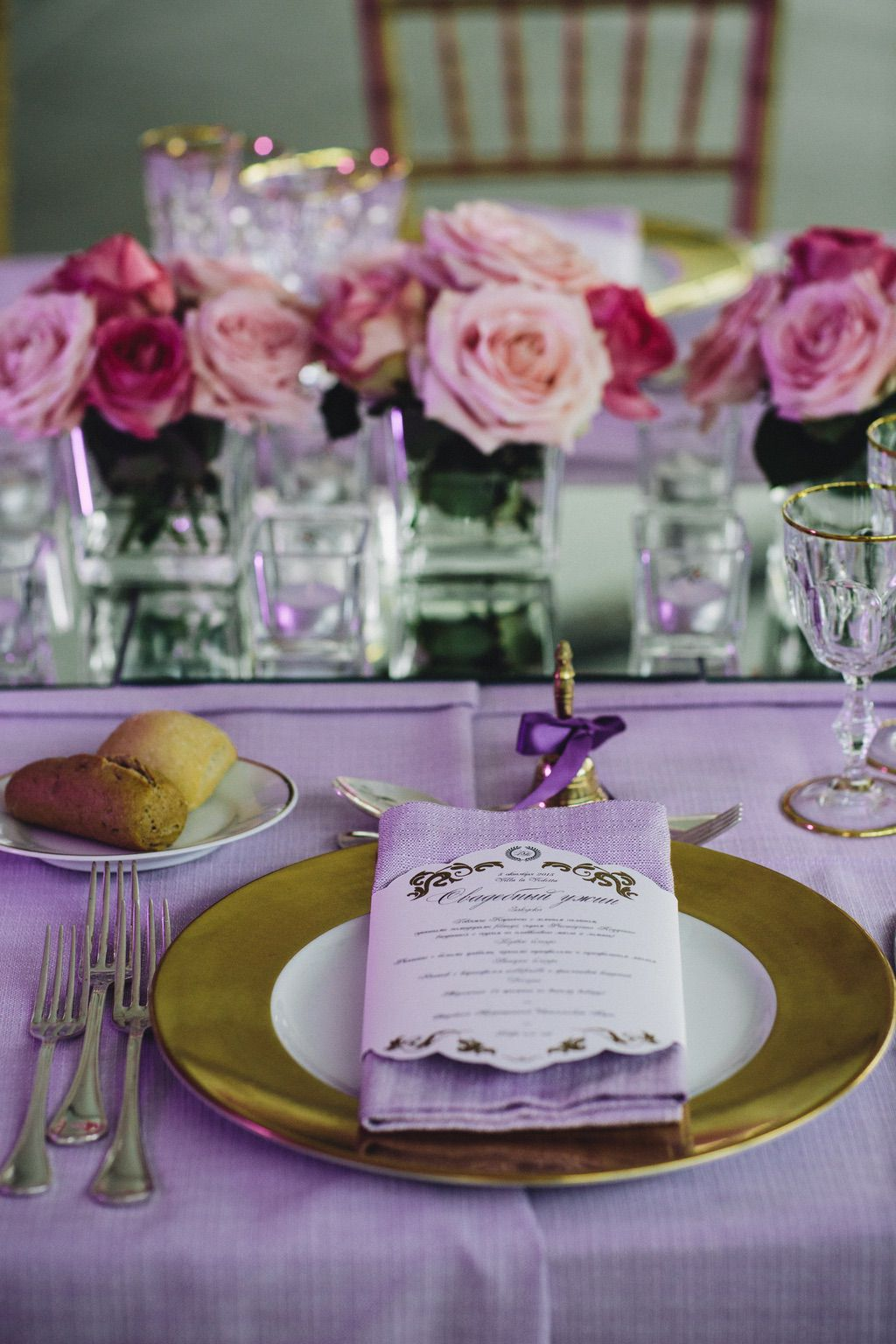 pink and gold wedding stationary pink roses wedding table set up in Firenze