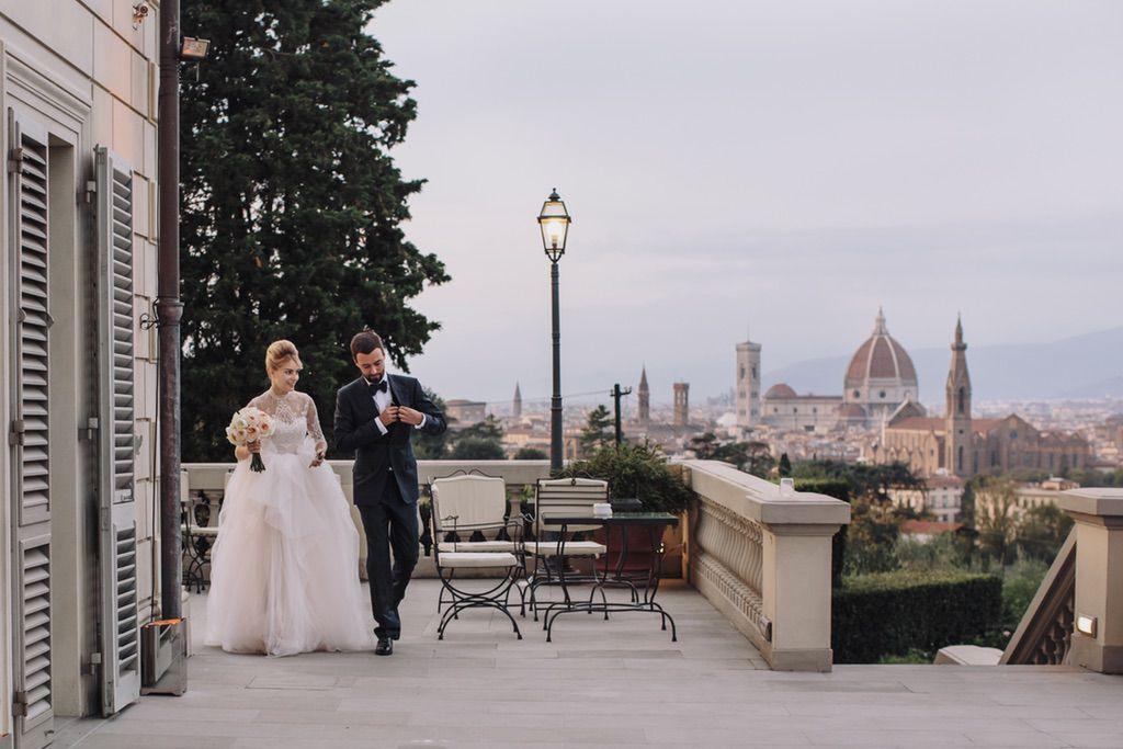real wedding Villa Vedetta terrace Firenze best viewpoint